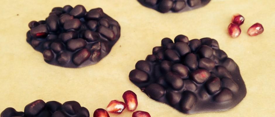 Dark Chocolate Pomegranate Clusters