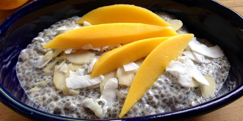 Coconut Mango Chia Seed Breakfast Pudding
