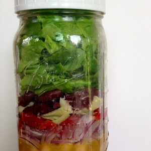 Italian Chickpea Salad in a Jar