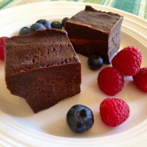 Chewy Chocolate Freezer Fudge
