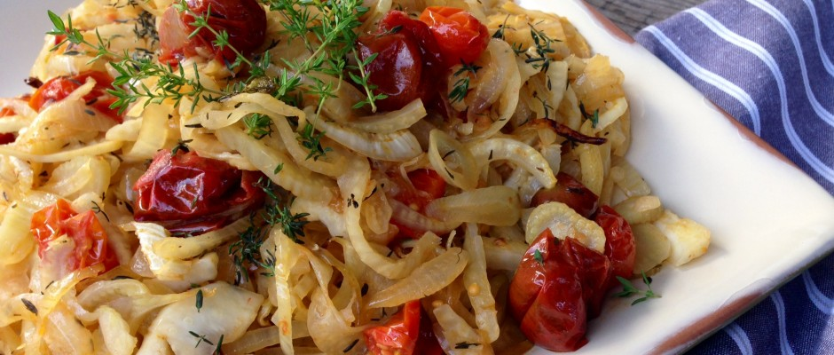 Roasted Fennel with Tomato and Thyme