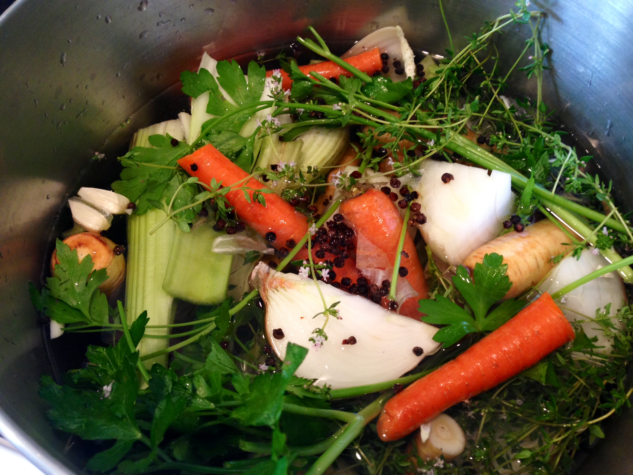 Basic Vegetable Broth | Nourished Living