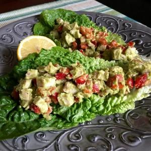 Chicken Avocado Lettuce Wrap