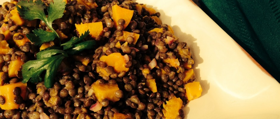 Roasted Butternut Squash and Lentils