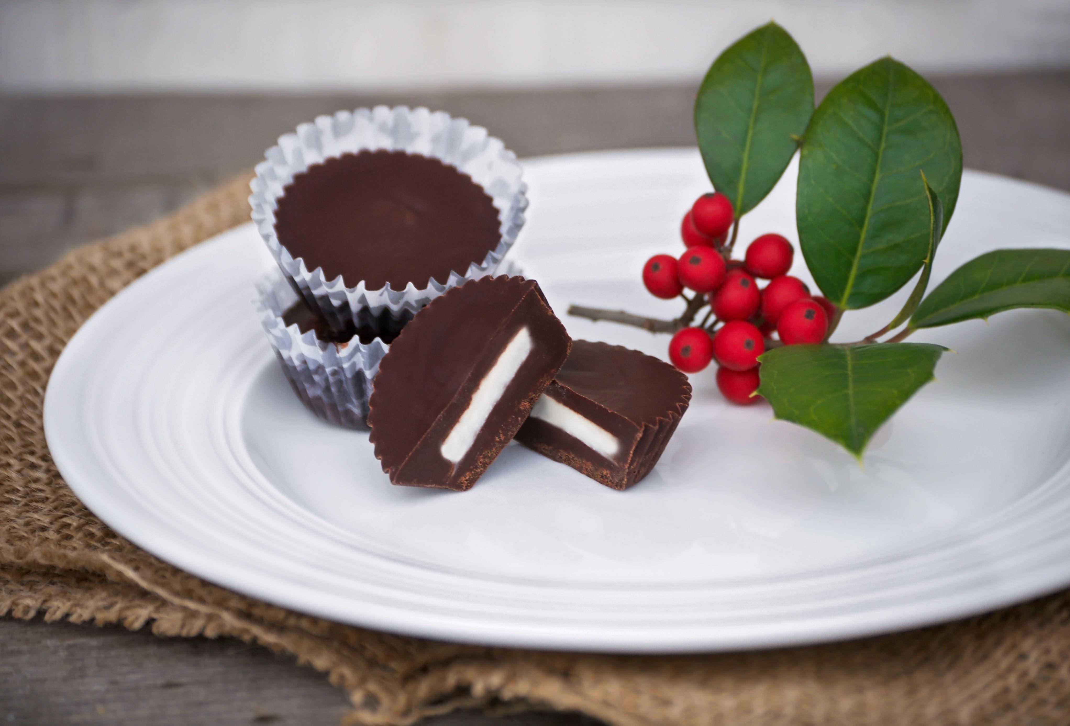 Dark Chocolate Mint Butter Cups