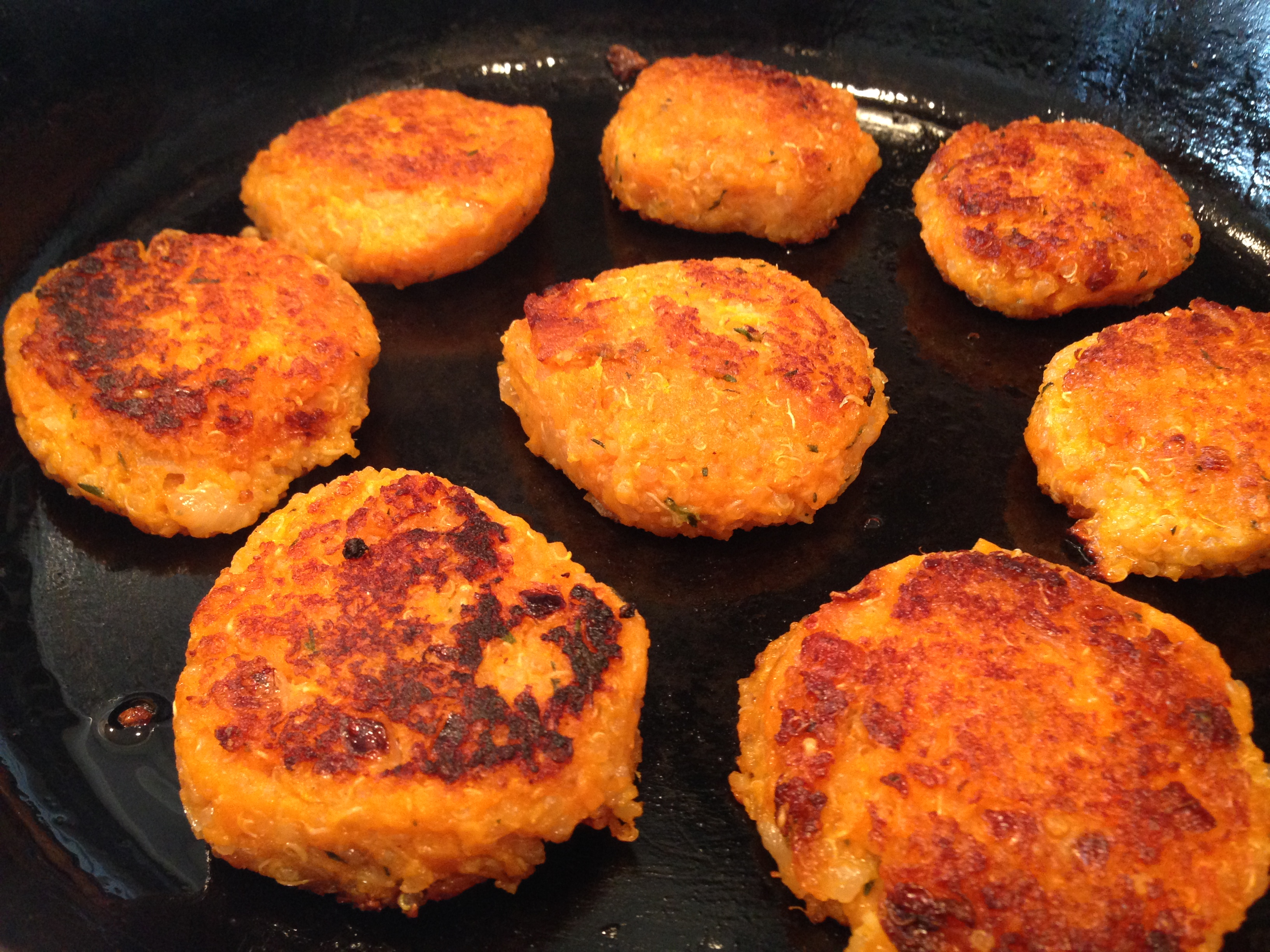 Sweet Potato Quinoa Patties with Savory Herb Drizzle