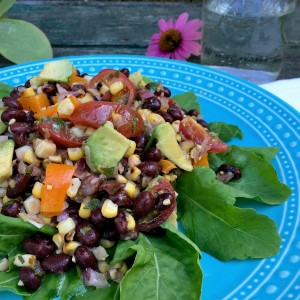 Black Bean & Roasted Corn Salad with Avocado and Lime