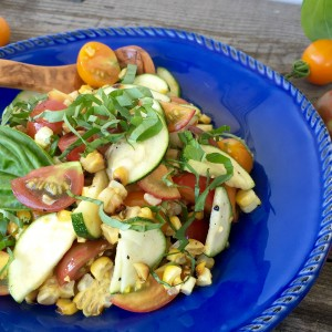 Roasted Corn, Zucchini & Tomato Salad